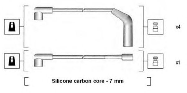 Комплект высоковольтных проводов MAGNETI MARELLI 941255170827
