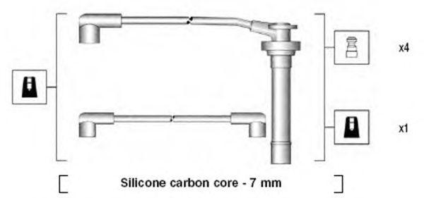 Комплект высоковольтных проводов MAGNETI MARELLI 941295040853
