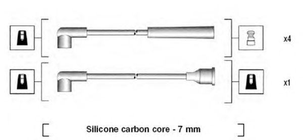 Комплект высоковольтных проводов MAGNETI MARELLI 941325120904