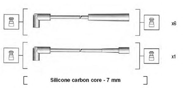 Комплект высоковольтных проводов MAGNETI MARELLI 941425020940