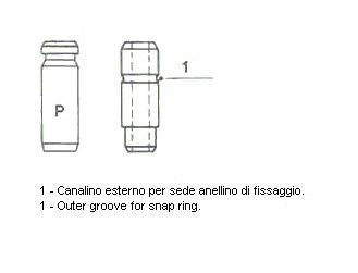 Направляющая втулка клапана METELLI 01-S2882