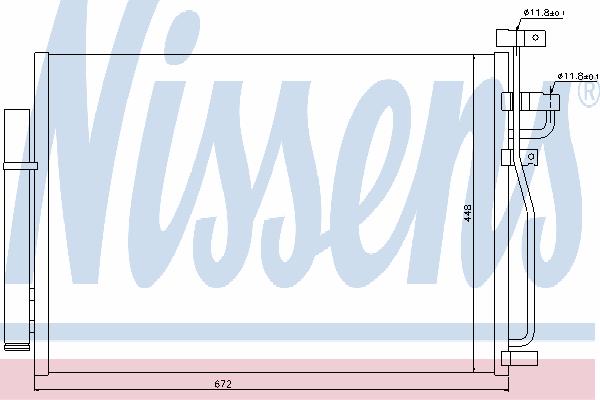 Радиатор кондиционера NISSENS 940010