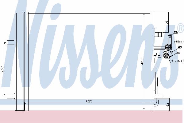 Радиатор кондиционера NISSENS 940044