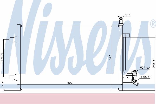 Радиатор кондиционера NISSENS 940097