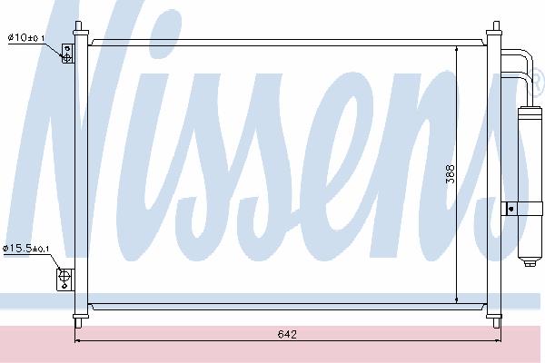 Радиатор кондиционера NISSENS 940121
