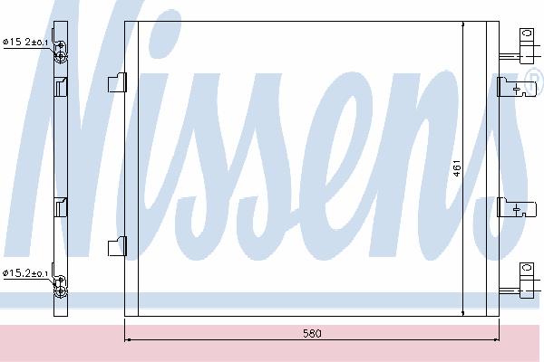 Радиатор кондиционера NISSENS 940147