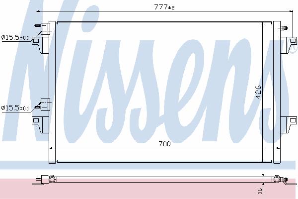 Радиатор кондиционера NISSENS 940153