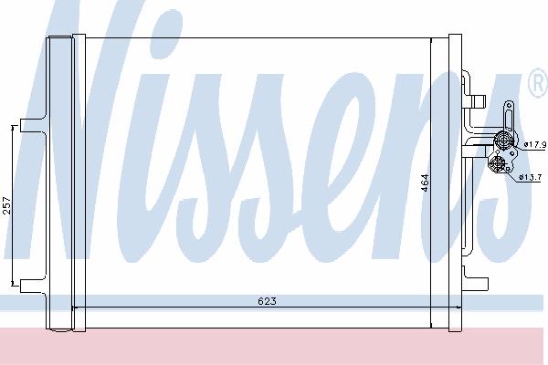 Радиатор кондиционера NISSENS 940155