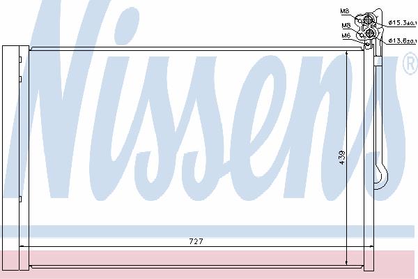 Радиатор кондиционера NISSENS 940157