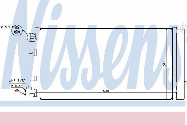 Радиатор кондиционера NISSENS 940160