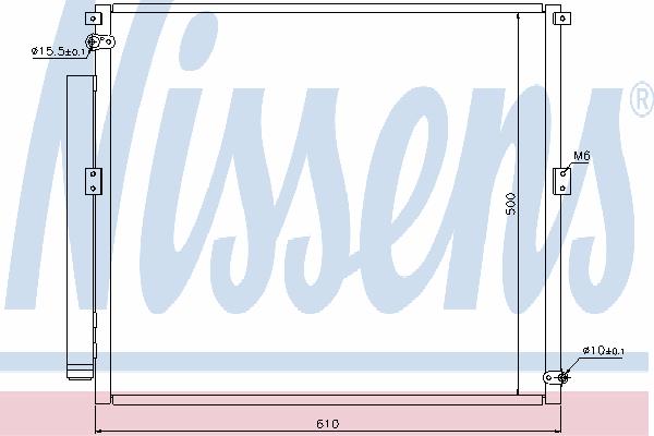Радиатор кондиционера NISSENS 940167