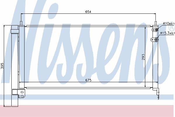 Радиатор кондиционера NISSENS 940175