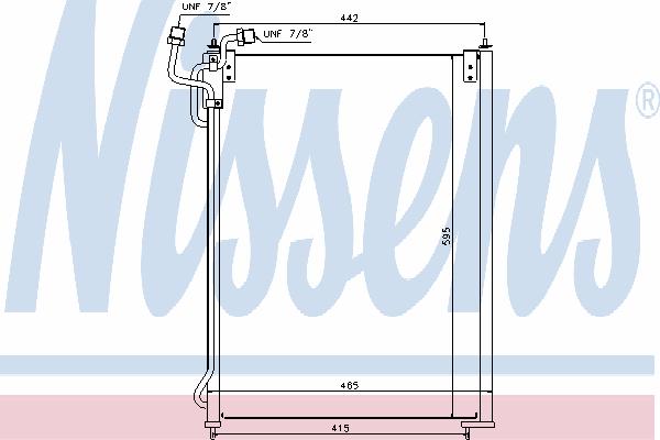 Радиатор кондиционера NISSENS 940180