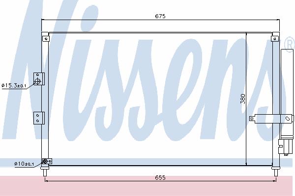 Радиатор кондиционера NISSENS 940197