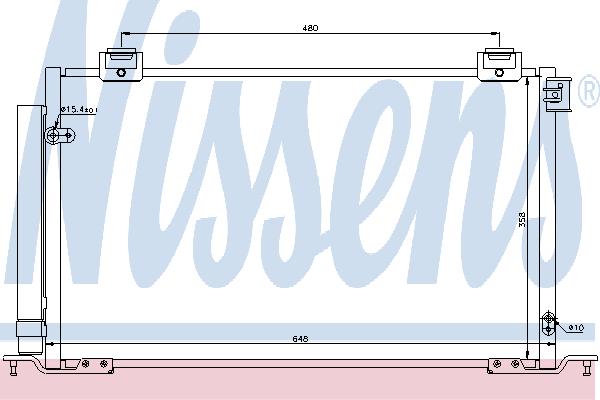 Радиатор кондиционера NISSENS 940200