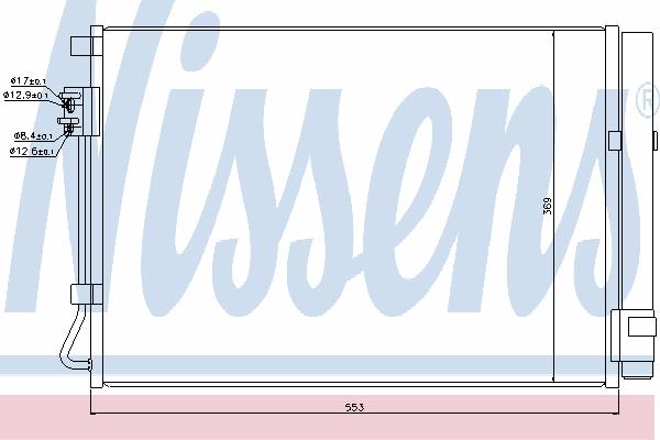 Радиатор кондиционера NISSENS 940243