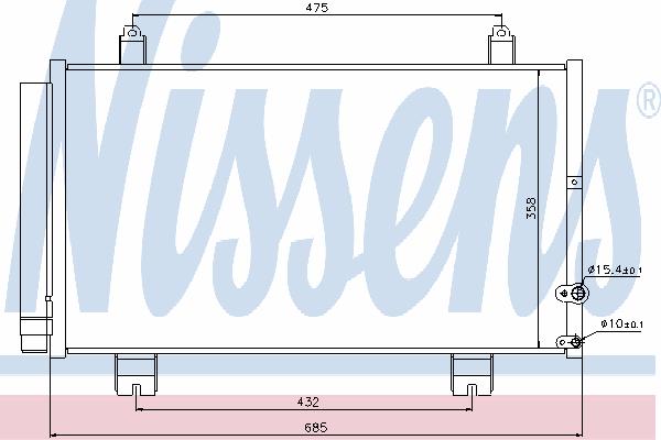 Радиатор кондиционера NISSENS 940261