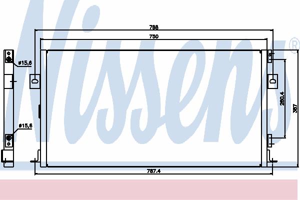 Радиатор кондиционера NISSENS 94268