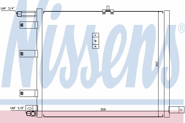 Радиатор кондиционера NISSENS 94300