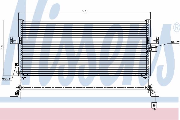 Радиатор кондиционера NISSENS 94358