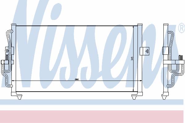 Радиатор кондиционера NISSENS 94350