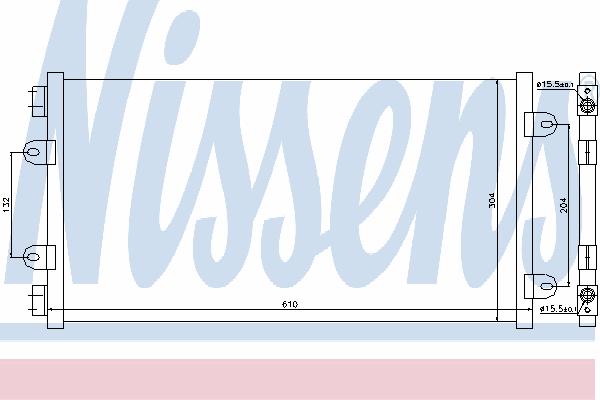Радиатор кондиционера NISSENS 94438