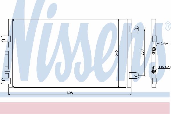Радиатор кондиционера NISSENS 94552