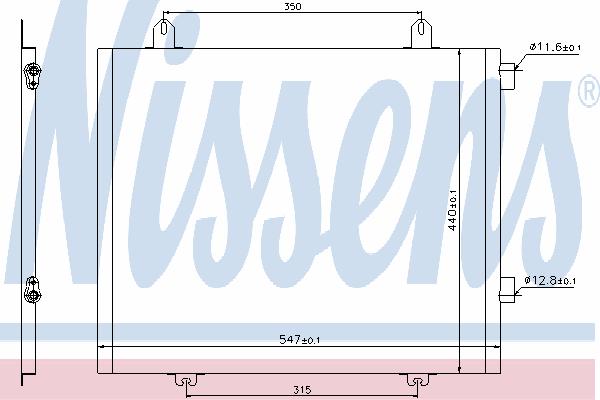 Радиатор кондиционера NISSENS 94573