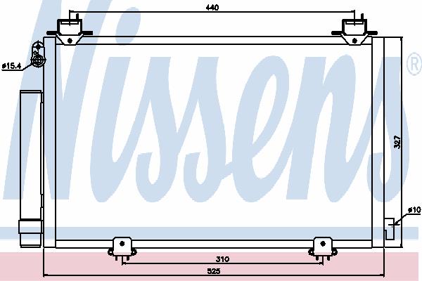 Радиатор кондиционера NISSENS 94590