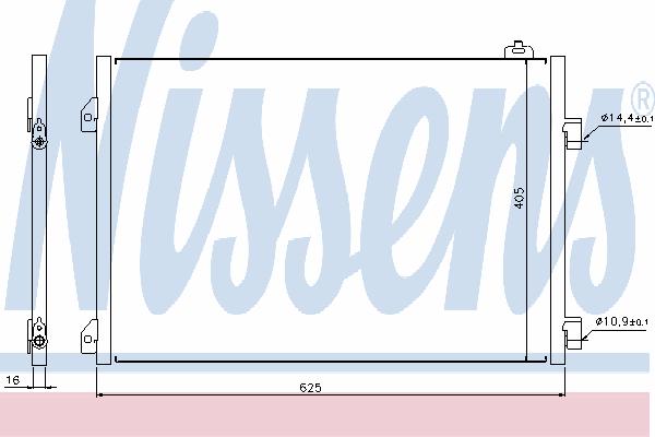 Радиатор кондиционера NISSENS 94668