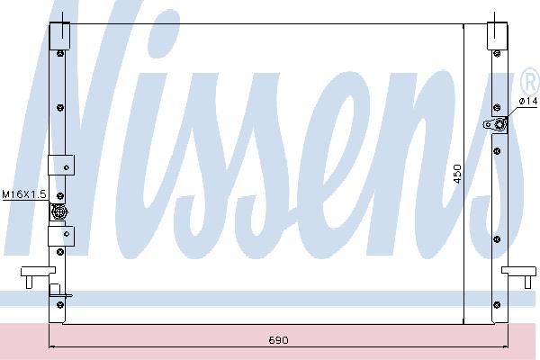 Радиатор кондиционера NISSENS 94685