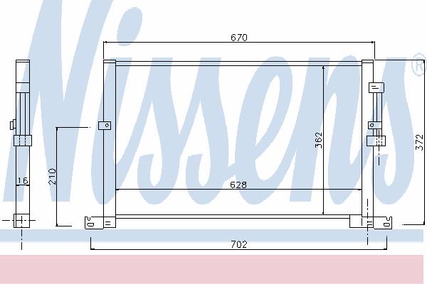 Радиатор кондиционера NISSENS 94718