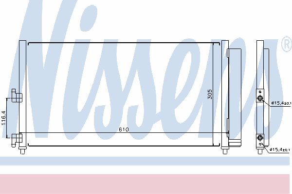 Радиатор кондиционера NISSENS 94727