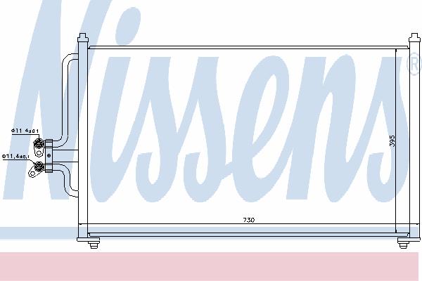 Радиатор кондиционера NISSENS 94731