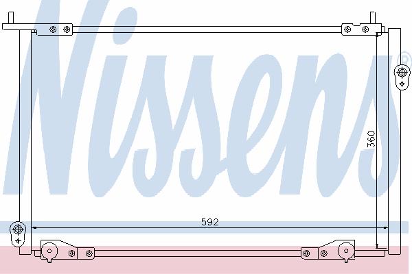 Радиатор кондиционера NISSENS 94736