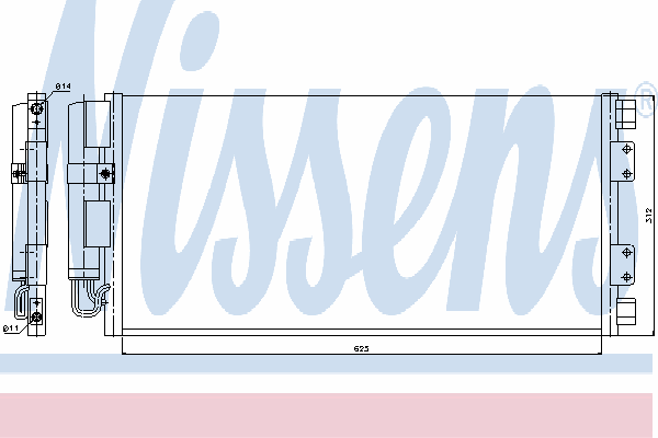 Радиатор кондиционера NISSENS 94781