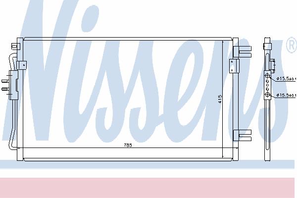 Радиатор кондиционера NISSENS 94806
