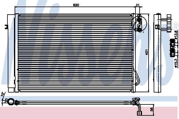 Радиатор кондиционера NISSENS 94872