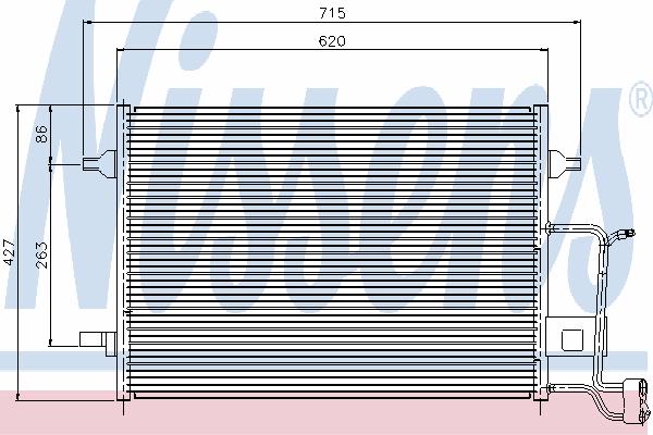 Радиатор кондиционера NISSENS 94922