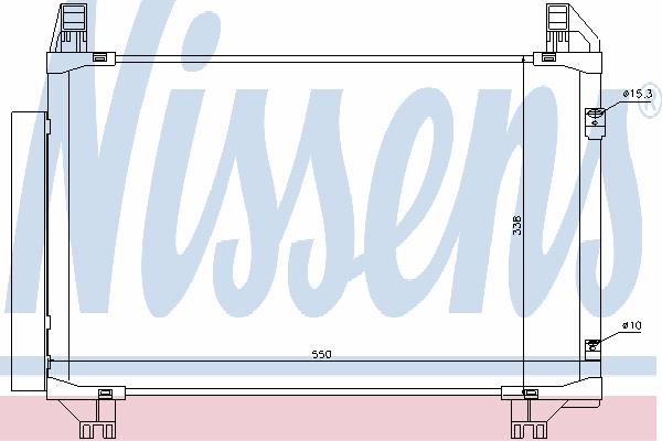 Радиатор кондиционера NISSENS 94991