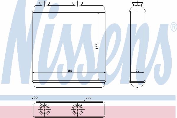 Радиатор отопителя NISSENS 72663