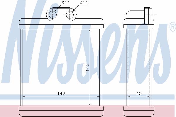 Радиатор отопителя NISSENS 73751