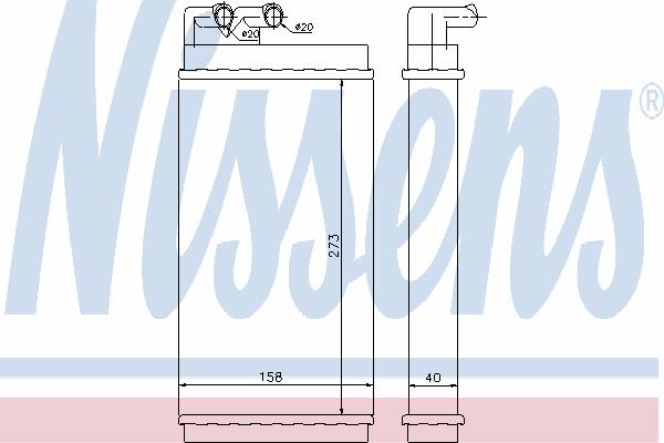 Радиатор отопителя NISSENS 70230