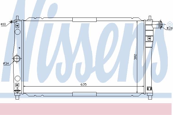 Радиатор, охлаждение двигателя NISSENS 61654