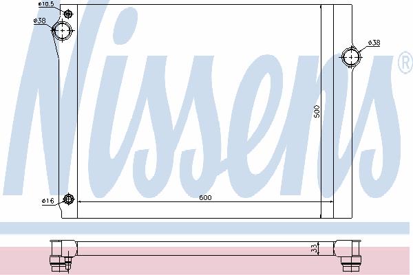Радиатор, охлаждение двигателя NISSENS 60768