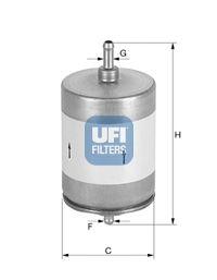 Топливный фильтр UFI 31.817.00
