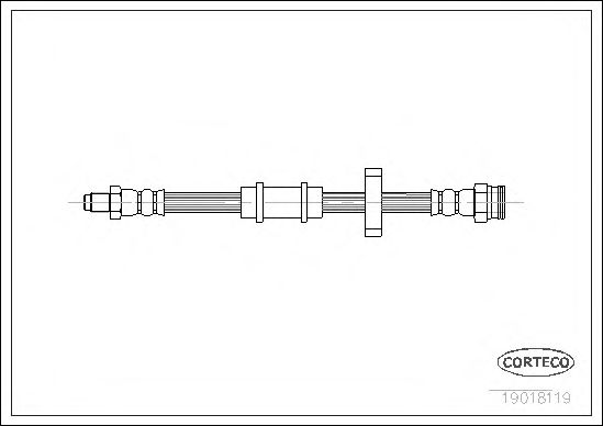 Тормозной шланг CORTECO 19018119