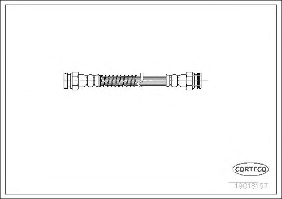 Тормозной шланг CORTECO 19018157