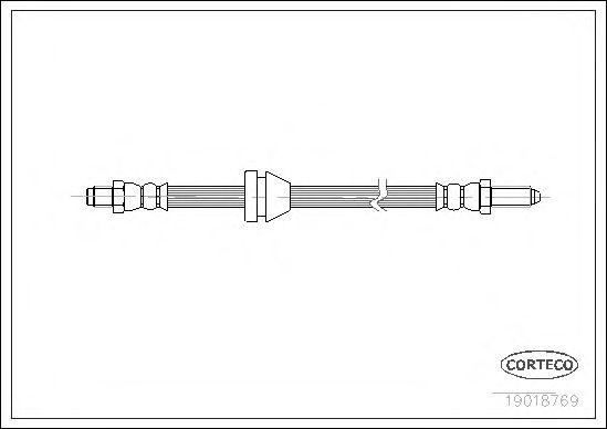 Тормозной шланг CORTECO 19018769
