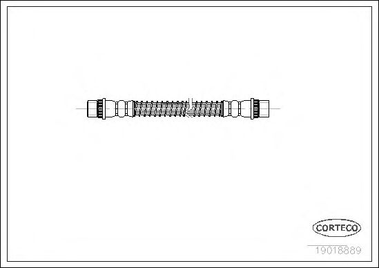 Тормозной шланг CORTECO 19018889